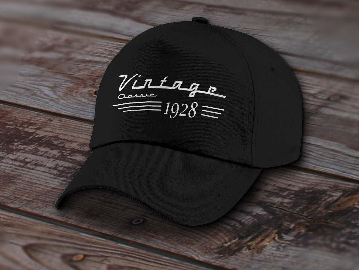 1928 Birthday Cap Vintage Classic Car Guy