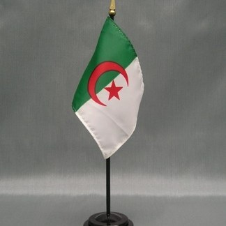 "Algeria-4"" x 6"" Desk Flag-0"