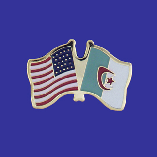 USA+Algeria Friendship Pin-0