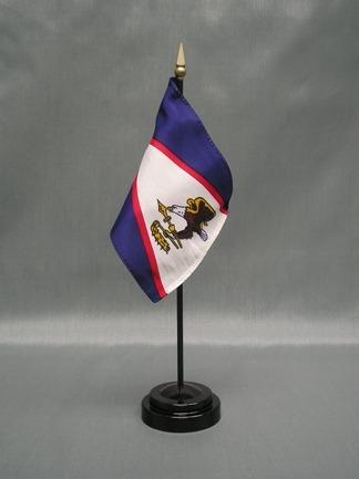 "American Samoa-4"" x 6"" Desk Flag-0"
