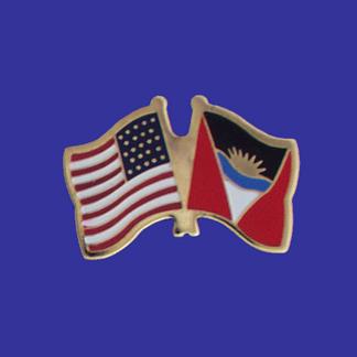 USA+Antigua & Barbuda Friendship Pin-0