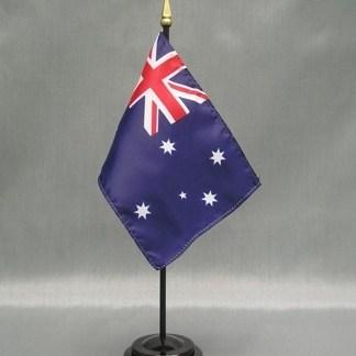 """Australia-4"""" x 6"""" Desk Flag-0"""
