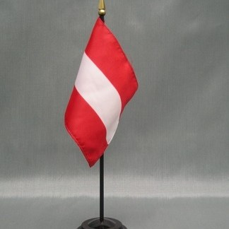 "Austria-4"" x 6"" Desk Flag-0"