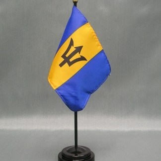 "Barbados-4"" x 6"" Desk Flag-0"