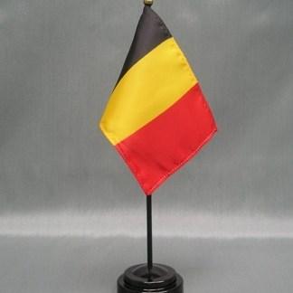 """Belgium-4"""" x 6"""" Desk Flag-0"""