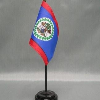 """Belize-4"""" x 6"""" Desk Flag-0"""