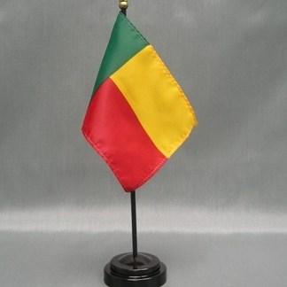 """Benin-4"""" x 6"""" Desk Flag-0"""