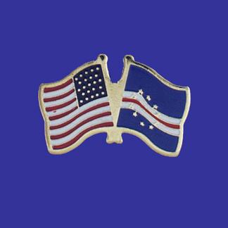 USA+Cape Verde Friendship Pin-0