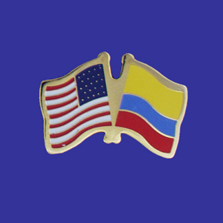 USA+Colombia Friendship Pin-0