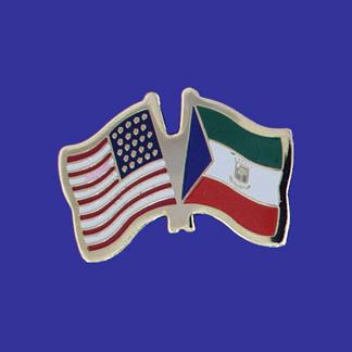 USA+Equatorial Guinea Friendship Pin-0