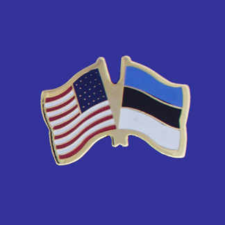 USA+Estonia Friendship Pin-0