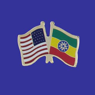 USA+Ethiopia Friendship Pin-0