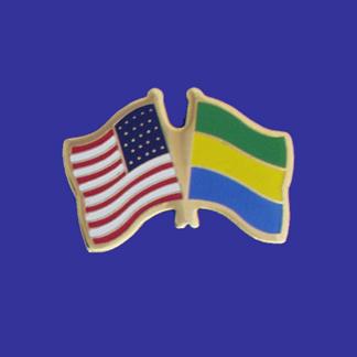 USA+Gabon Friendship Pin-0