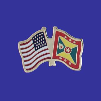 USA+Grenada Friendship Pin-0