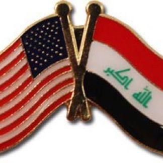 USA+Iraq Friendship Pin-0