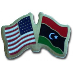 USA+Libya Friendship Pin-0