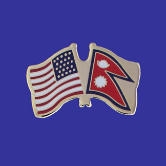 USA+Nepal Friendship Pin-0
