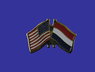 USA+Netherlands Friendship Pin-0