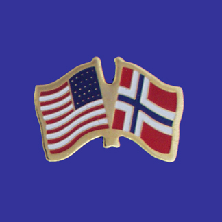 USA+Norway Friendship Pin-0