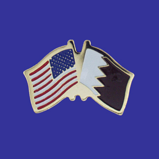 USA+Qatar Friendship Pin-0