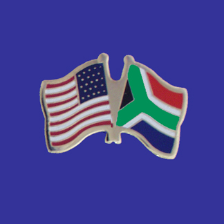 USA+South Africa Friendship Pin-0