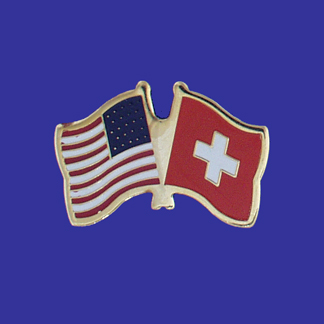 USA+Switzerland Friendship Pin-0
