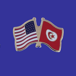 USA+Tunisia Friendship Pin-0