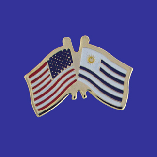 USA+Uruguay Friendship Pin-0