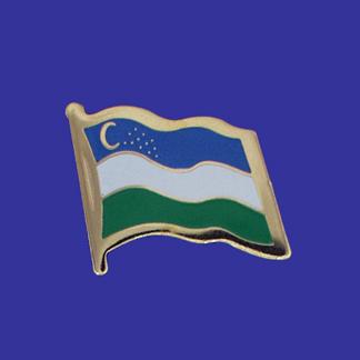 Uzbekistan Lapel Pin-0
