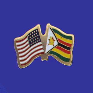 USA+Zimbabwe Friendship Pin-0