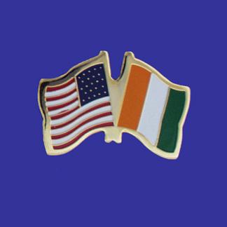 USA+Cote d'Ivoire Friendship Pin-0