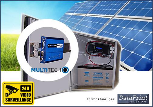 Passerelle M2M MultiConnect auto-alimentée sur panneaux solaires