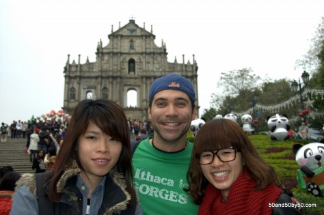 strangers will ask to take your photo at the Ruins of St Paul and everywhere in your Macau day trip