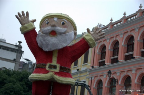 Santa made an appearance on my Macau day trip!