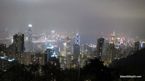 View from Victoria Peak of the Hong Kong skyline
