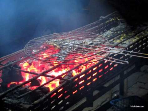 Indonesian BBQ fish - very different than the grills we use