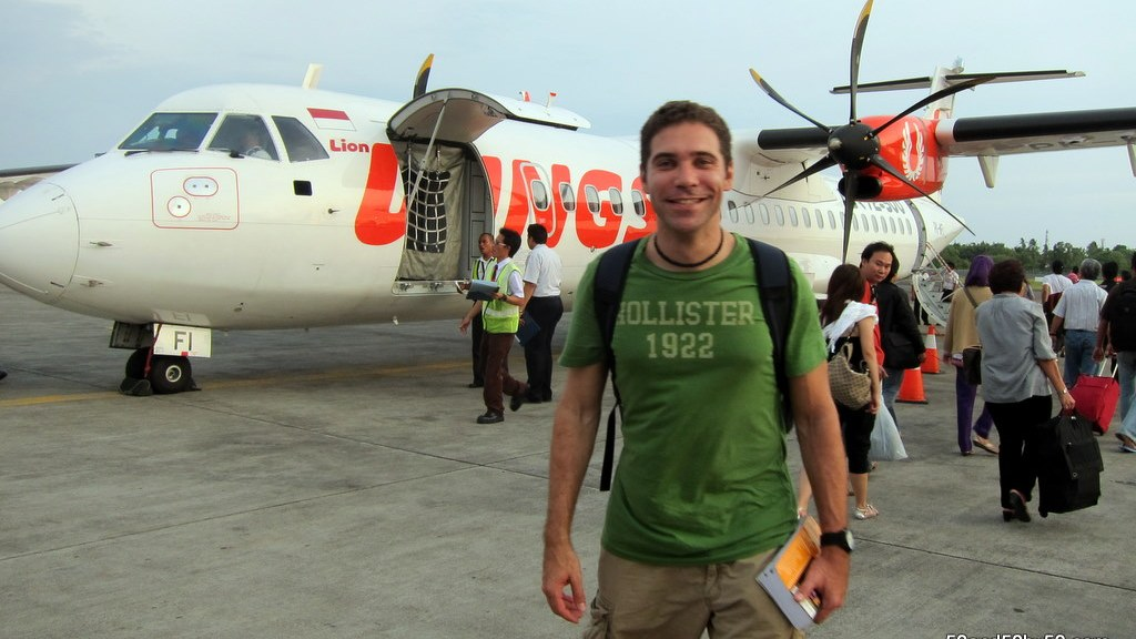 my first prop plane flight!