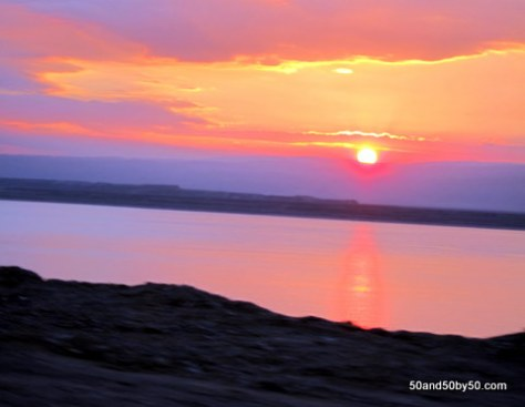 Those colors! Awesome Dead Sea Sunset in Jordan