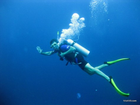 1st underwater SCUBA Diving photo of me