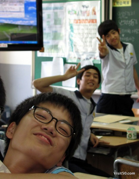 teaching english in South Korea - students in ESL classroom