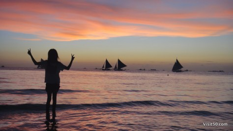 Boracay sunset silhouettes in the Philippines