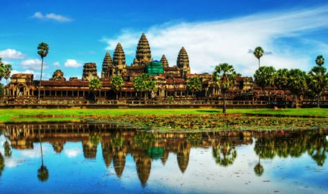 amazing Angkor Wat - best photo of the temples and reflecting pool in Cambodia