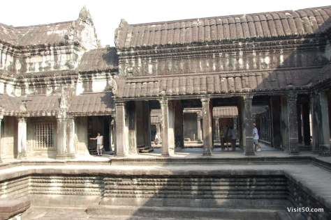 Cruciform gallery separating the courtyards in Angkor Wat