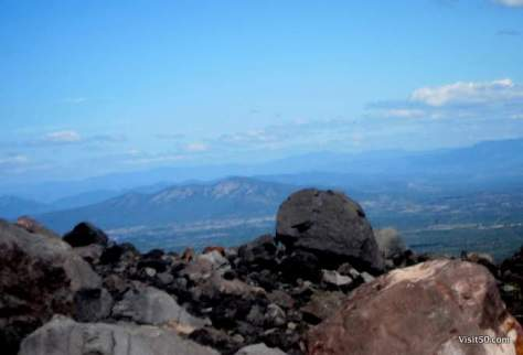 scary view down Volcan Negro