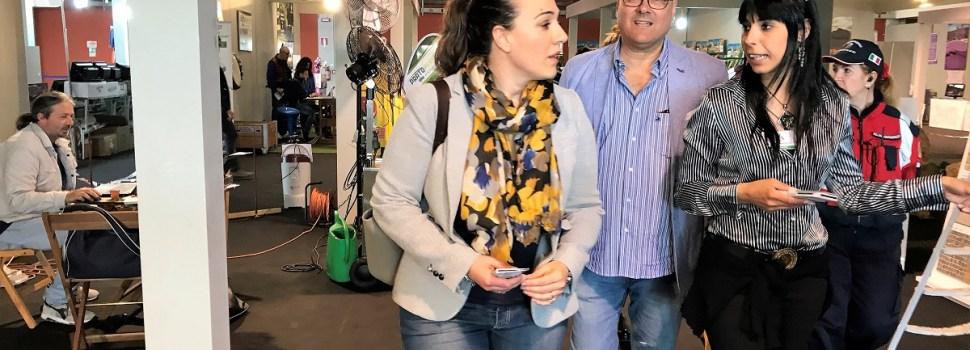 Agritaly, il presidente Eleonora Della Penna in visita all'Expo di Latina