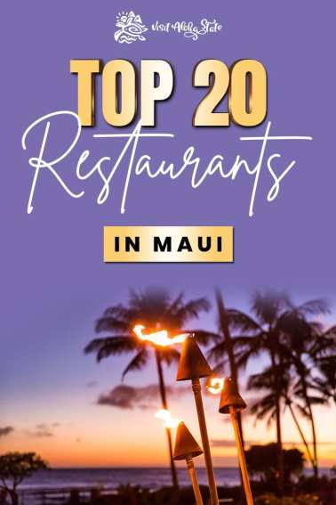 Top 20 Restaurants in Maui