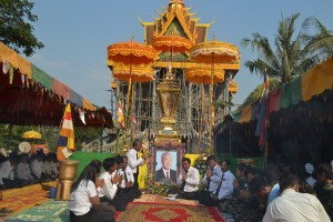 Ceremony for King Sihanouk