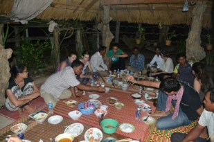 Dinner at the homestay