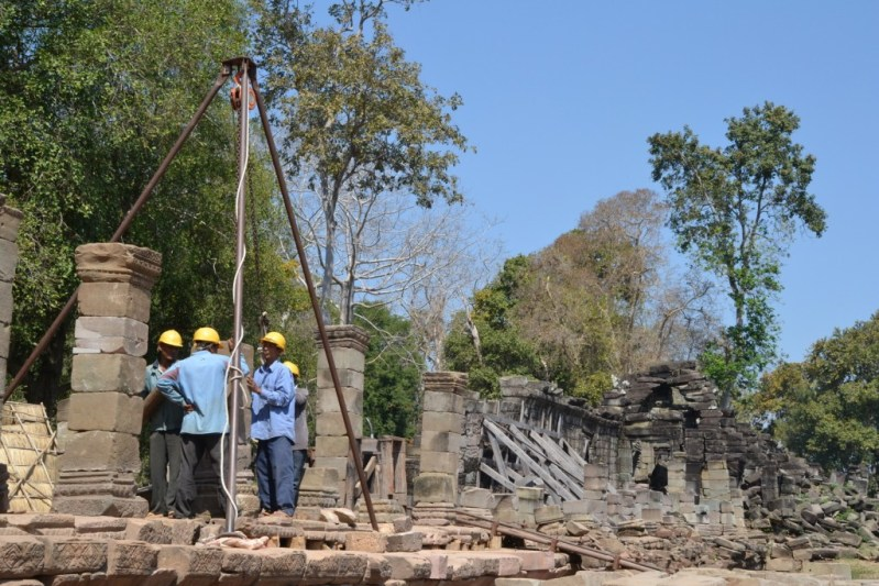 Temple conservation project by Global Heritage Fund