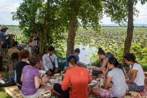 Picnic by the Cheung Krus Baray